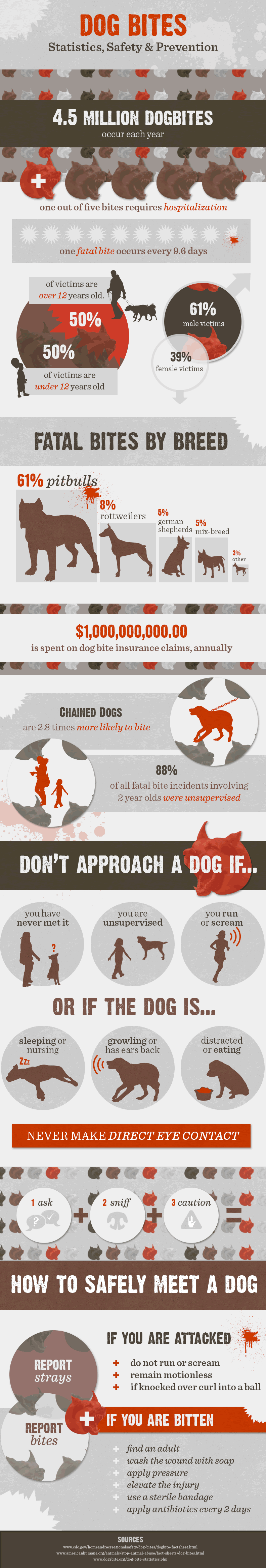 Dog Bite Statistics and Safety Infographic