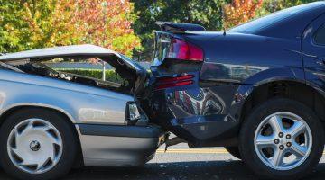 Rear end car wreck